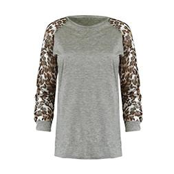 Clearance Leopard Print Printed Long Sleeves Womens Leopard