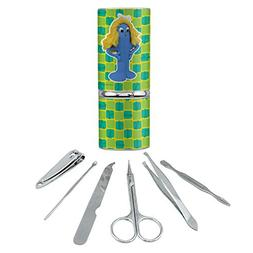 Goo Blue Mermaid Gumby Clay Art Stainless Steel Manicure Ped