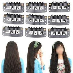 Hair Styling Tools 40pcs Hair Extension Clip Middle Black Ha