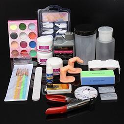 ISALI Glitter Acrylic Powder Manicures File Tips Nail Art Se