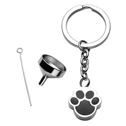 JOVIVI Cremation Jewelry - Stainless Steel Pet/Dog Paw Urn K