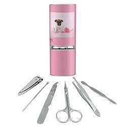 Jack Russel Terrier Puppy Dog Flower Stainless Steel Manicur
