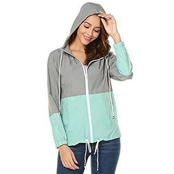 Mose Women Stitching Contrast Hooded Long Sleeve Patchwork T