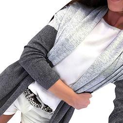 Moserian Women Long Sleeve Spling Color Open Front Cardigan