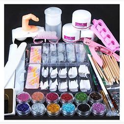 Nail Art,Putars Fashion Acrylic Powder Glitter Nail Brush Fa