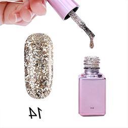 New Gel Nail 6ml Diamond Glitter Nail Polish Sequins Gel Nai