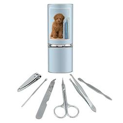 Poodle Puppy Dog Book Shelf Stainless Steel Manicure Pedicur
