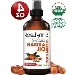 Shiny Leaf Organic Argan Oil for Hair, Face and Body – 100