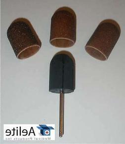 "A+Elite Pedicure Sanding Caps LARGE 16mm 3/32"" Mandrel Callu"
