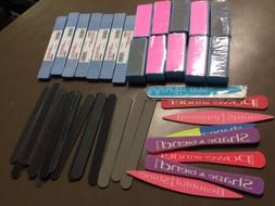 Assorted Lot Of Fingernail Files And Nail Buffers New