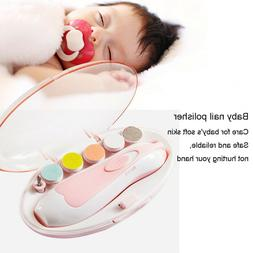 Baby Nail File Clippers Electric Trimmer Newborn Toddler Toe