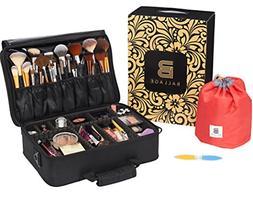 Ballage Large Travel Makeup Bag  with Adjustable Dividers, M