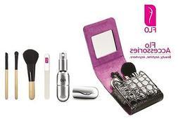 FLO Beauty Organizer Make Up Case Set Perfume Atomiser Glass