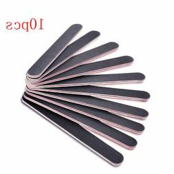 Black Pro Double Sided Manicure Nail File Emery Boards #100