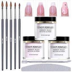 BORN PRETTY Acrylic Powder Kit Nail Art Carving Brush Cuticl