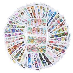 50 Pack Butterfly Cat Dog Dream Catcher Colorful Nail Art St