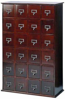 Leslie Dame CD-456C Solid Oak Library Card File Media Cabine