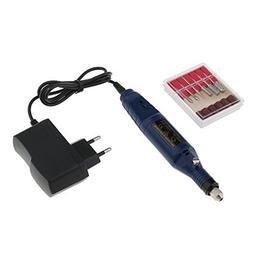 Magideal Dark Blue Protable Mini Electric File Nail Drill Se