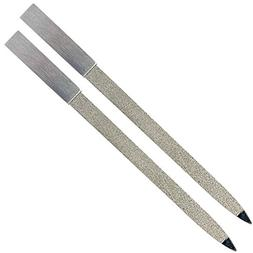 Diamond Nail File 2 Pack, 7 inch Double Sided File Buffer fo