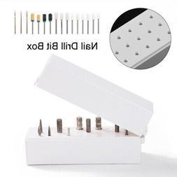 Drill Bit Files Storage Box Stand Display Nail Drill Bit Box