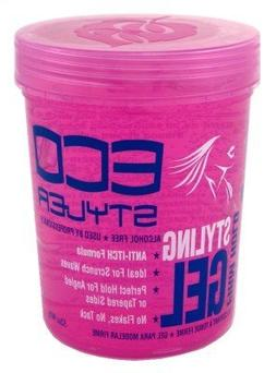 Eco Styler Styling Gel 32 oz. Pink Jar  with Free Nail File