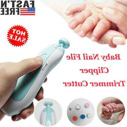 Electric Baby Nail Clippers Trimmer Cutter Manicure Pedicure