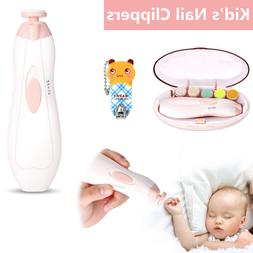 Electric Baby Nail File Clippers Trimmer Newborn Toddler Toe