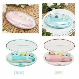 Electric Baby Nail File Clippers Set Trimmer Toddler Toes Na