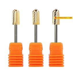 Makartt Electric Nail File Safety Dirll Bits Gold Carbide Ar