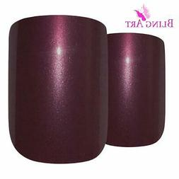 Bling Art False Nails French Fake Glitter Chocolate 24 Squov