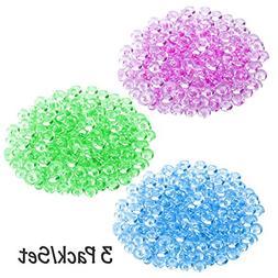Mega Shop - Fish Bowl Beads 3 Pack Light Purple Fruit Green