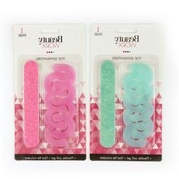 Flexible Soft Gel Toe Separators Nail File Glitter Silicone
