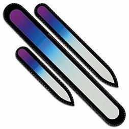 Mont Bleu Gift Set of 3 Glass Nail Files - Czech Crystal Nai