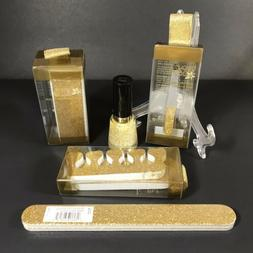 Gold Glitter Nail Care Gift Set Revlon Heavenly Nail Polish