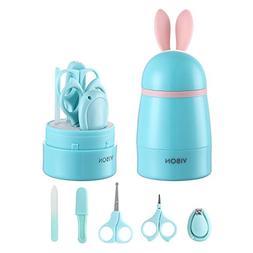 Vibon Green Rabbit Shape Baby Nail Clipper Set,Safe Baby Nai