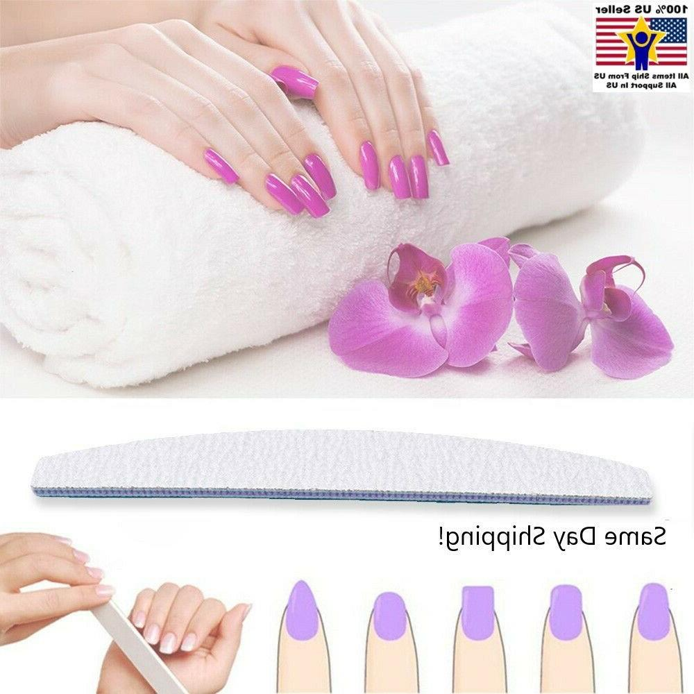 10 pcs professional acrylic nail file 100