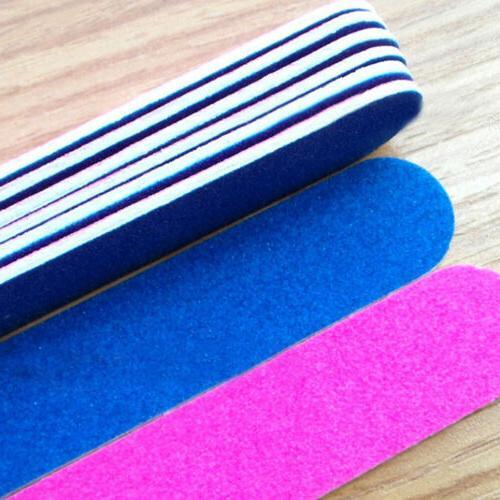 100pcs Mini Nail Files Artificial Nail Sandpaper Disposable Cuticle Tool