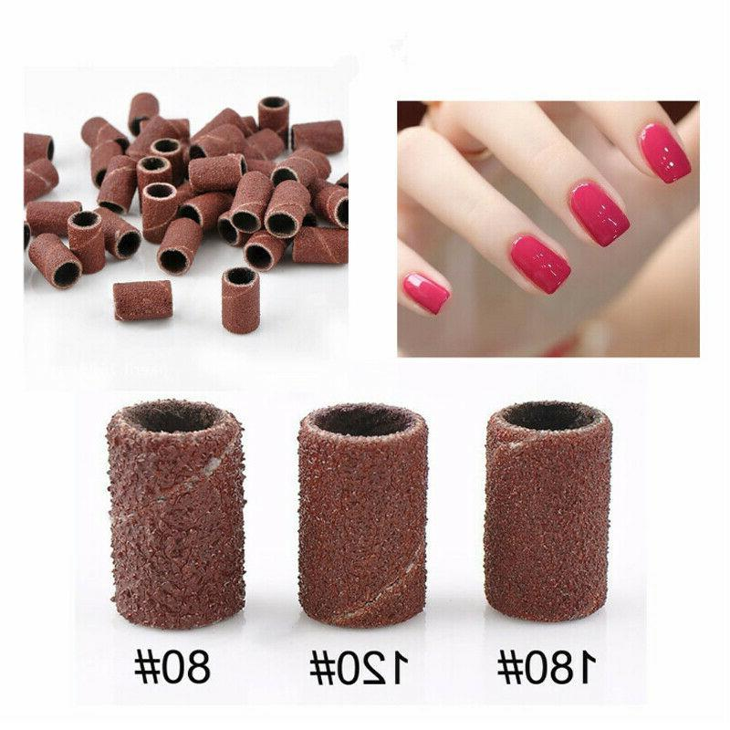 100pcs Nail Drill Bands Machine Replacement File 80# US