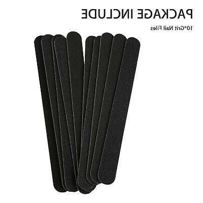 10pcs Black Double Grit Nail Boards
