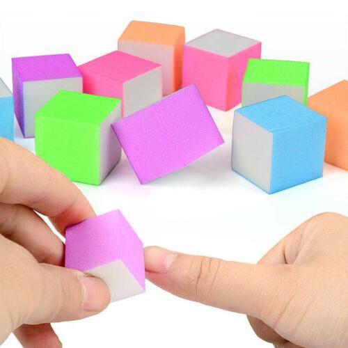 10pcs durable sponge nail file polish brush