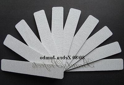 10pcs zebra jumbo nail files 80 80