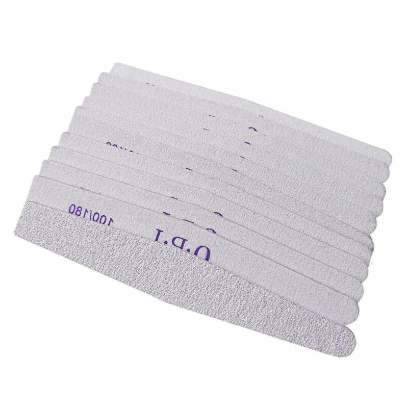 Ballhull 12Pcs Nail Files Double Sided Emery Board Grit 100