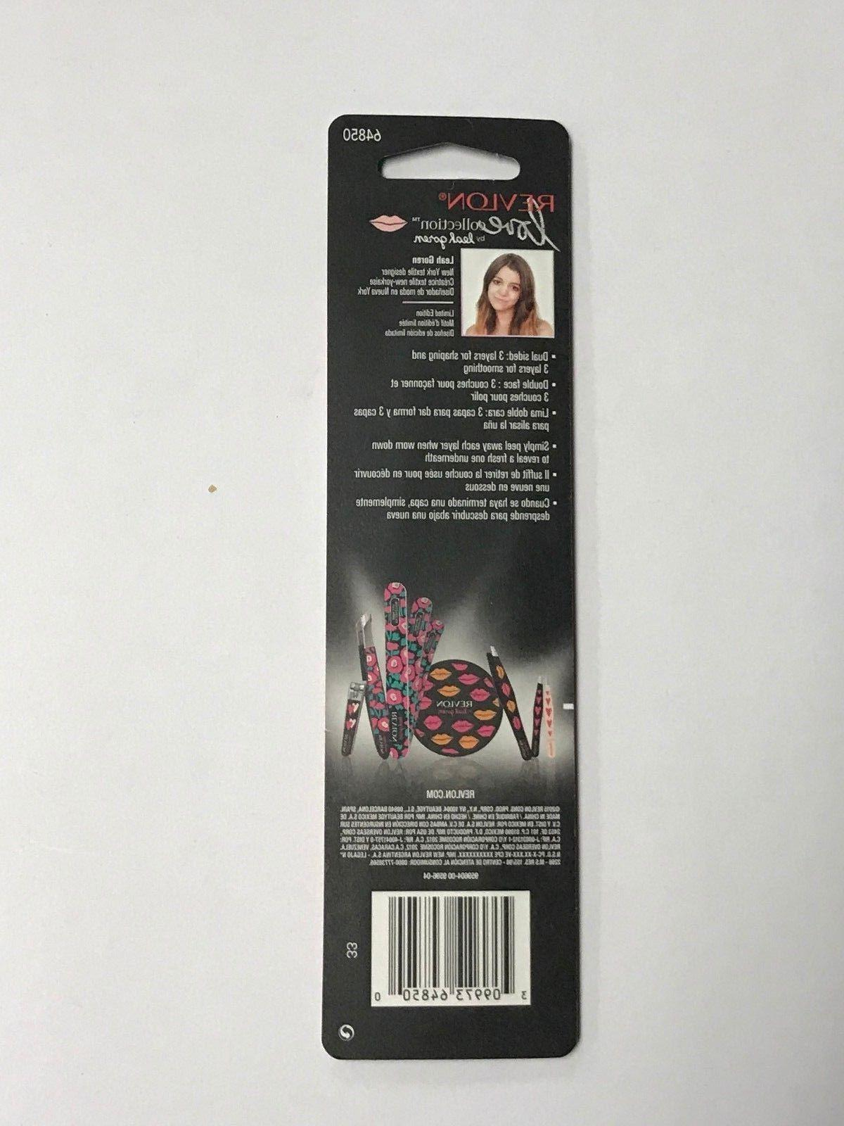 6 Nail File Love Collection Leah #64850 Dual Sided
