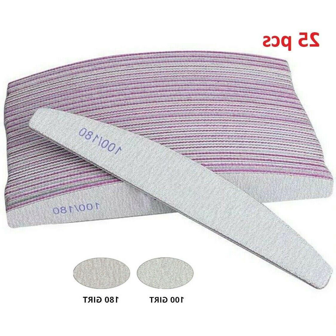 25pcs nail files 100 180 double sided