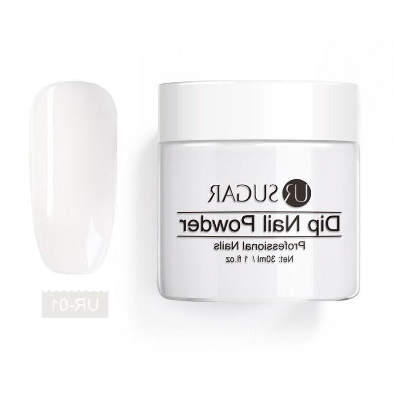26Pcs/kit UR Glitter Dipping Nail Powder Liquid System Tray