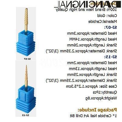 3/32'' Carbide Art Drill Bits Taper Radius