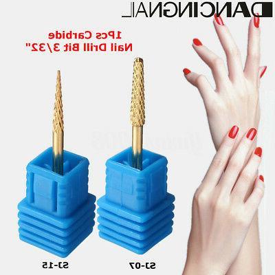 3 32 gold carbide nail art drill