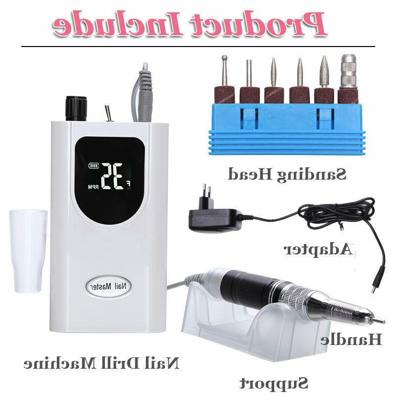 Electric Nail Manicure Tools Sets LED Display