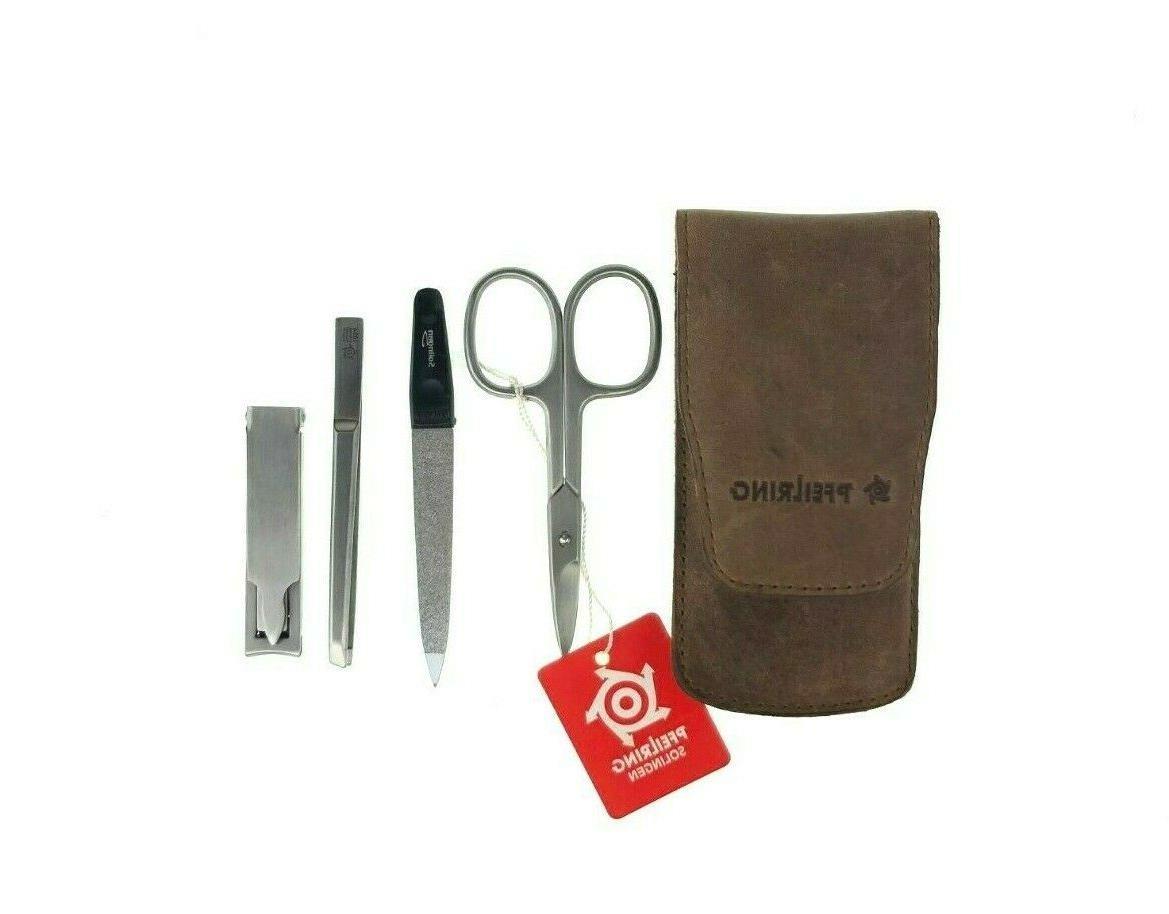 4 piece menicure set scissors file tweezers