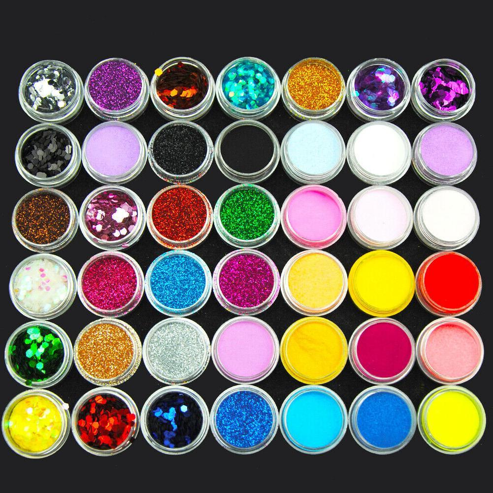 42Pc Acrylic Powder Powder Glitter Acrylic Liquid File Set
